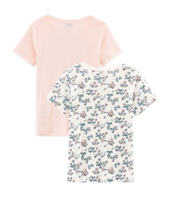 Due t-shirts bambina maniche corte in cotone lotto .