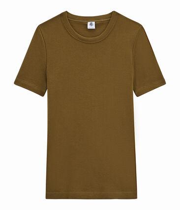 tee-shirtdonna maniche corte marrone Autumn