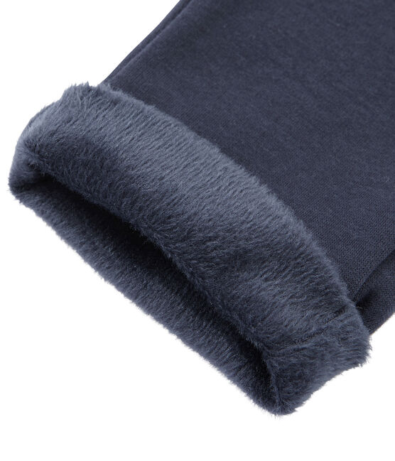 Pantalone bambino in caldo molleton blu Smoking