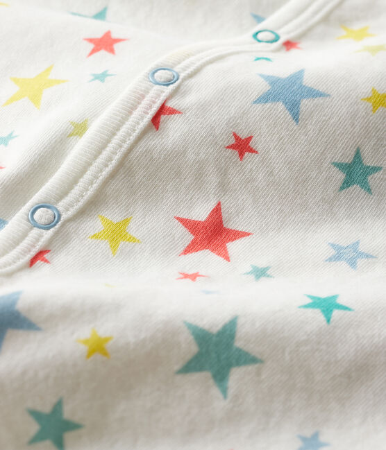 Tutina bebè in tubique bianco Marshmallow / bianco Multico
