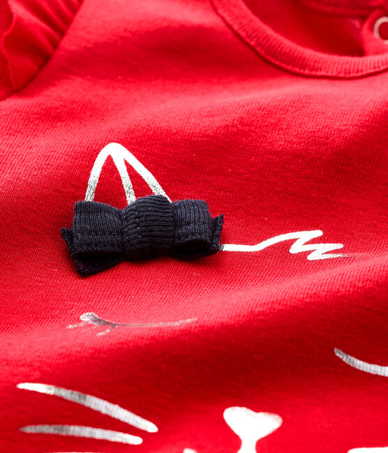 Blusa a manica lunga bebè femmina rosso Terkuit
