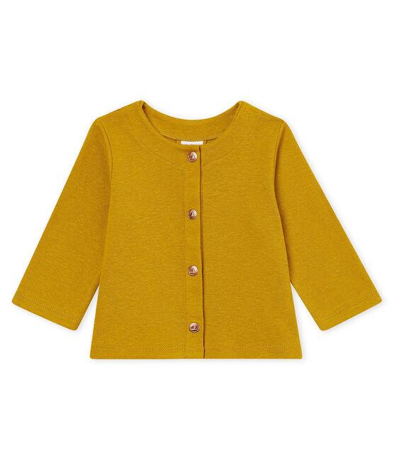Cardigan bambina in cotone/lino giallo Bamboo