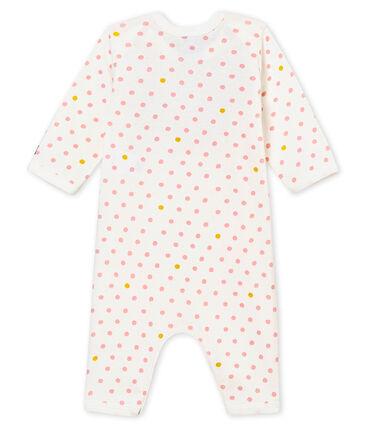 Tutina senza piedini e con bavaglino per bebé femmina bianco Marshmallow / bianco Multico