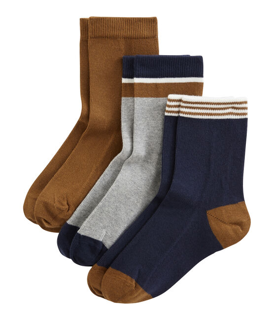 Confezione da 3 paia di calzini bambino lotto .