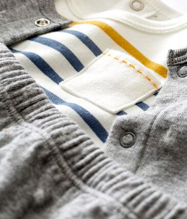 Coordinato tre pezzi in tubique jacquard bebé maschio