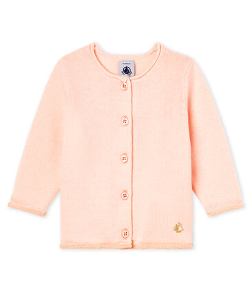 informazioni per 2a309 721f9 Cardigan essenziale bambina in maglia di lana e cotone