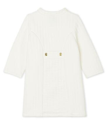Cappotto in tubique trapuntato bebè femmina bianco Marshmallow