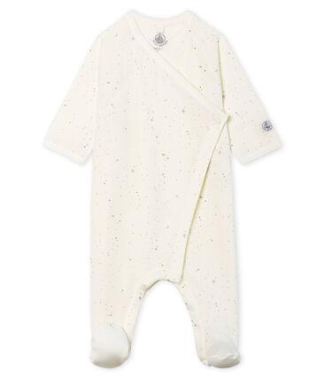 Tutina pigiama bebè in tubique bianco Marshmallow / bianco Multico Cn