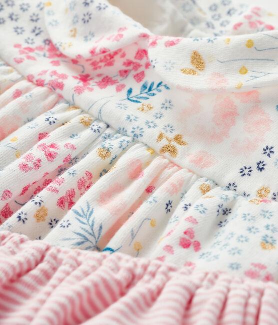 Completo 2 pezzi bebè femmina bianco Marshmallow / bianco Multico