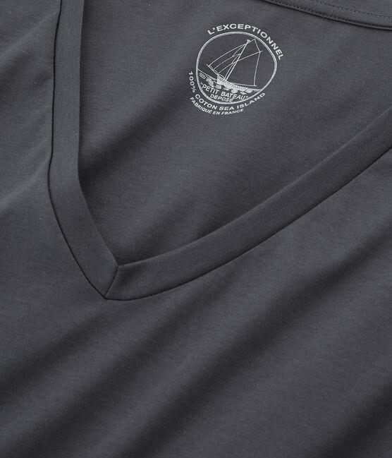T-shirt maniche lunghe donna in cotone sea island MAKI