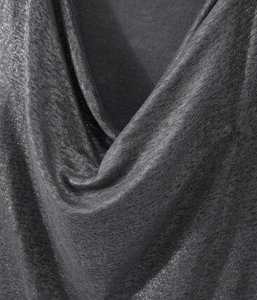 Top donna in lino iridescente grigio Maki / grigio Argent