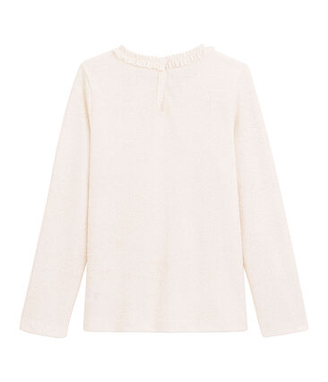 Tee-shirt millerighe a maniche lunghe bianco Marshmallow / rosa Copper