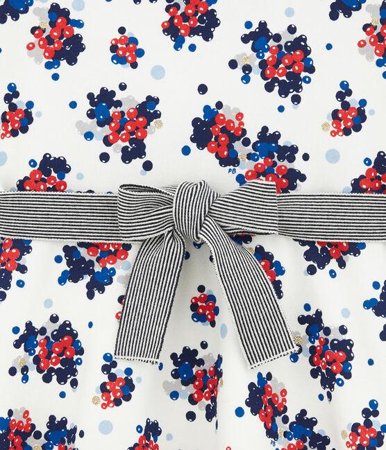 Abito floreale in molleton bianco Marshmallow / bianco Multico