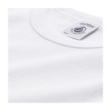T-shirt maniche lunghe tinta unita a punto cocotte