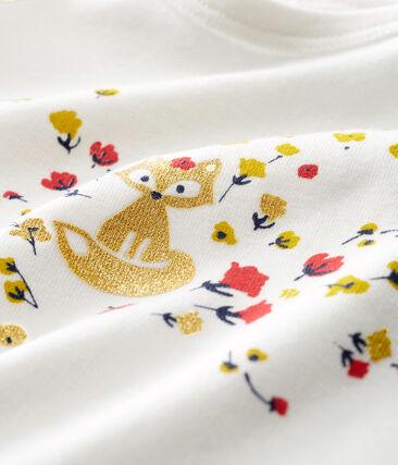 T-shirt a manica lunga bebè femmina bianco Marshmallow