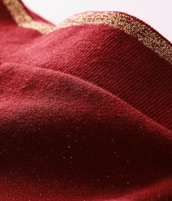 Pantalone in molleton con paillettes per bebé femmina rosso Ogre / giallo Dore