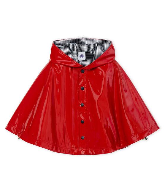 Mantellina da pioggia in vernice bebè femmina rosso Terkuit