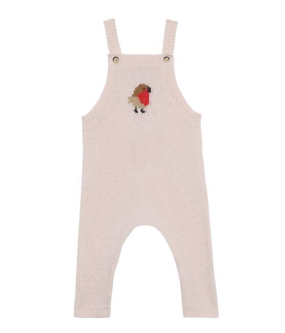 Salopette lunga bebè maschio in tricot di lana, nylon e alpaca. FLEUR