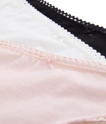 Lotto da 3 slip donna in jersey di lycra super sottile