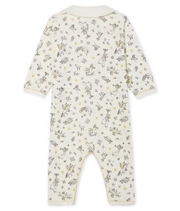 Tutina senza piedi a costine per bebé femmina bianco Marshmallow / bianco Multico