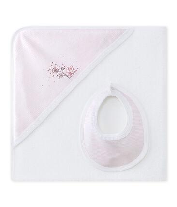 Scatola regalo con telo da bagno per bebé femmina