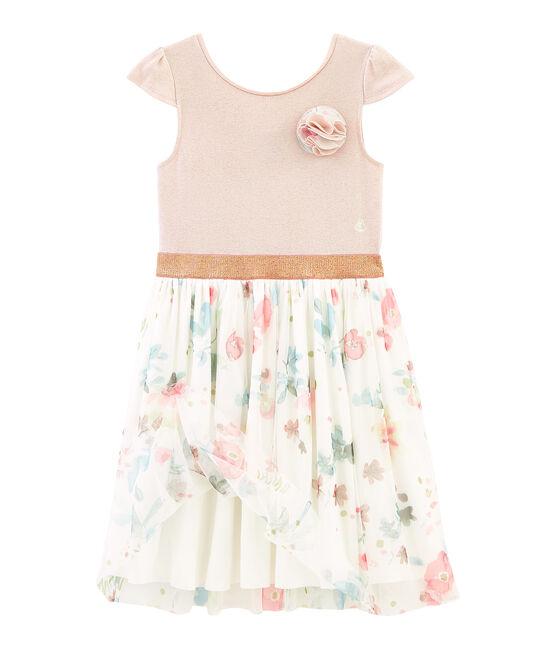 Abito bambina rosa Pearl / bianco Multico