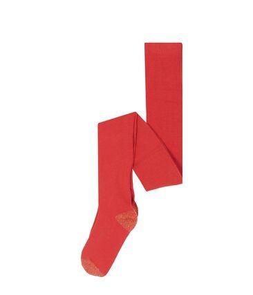 Collant bambina rosso Signal