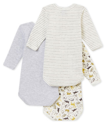 Lotto di 3 bodies a maniche lunghe bebé maschio