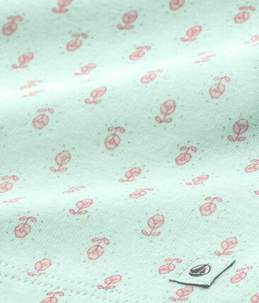 Pigiama per bambina stampato blu Bocal / rosa Rose