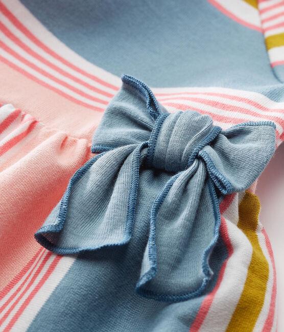 Abito mc a righe bebè femmina bianco Marshmallow / bianco Multico