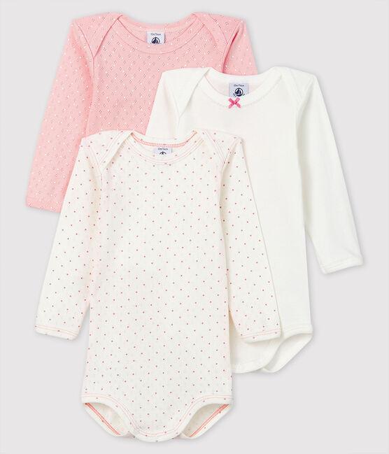 Confezione da 3 body a manica lunga bebè femmina lotto .