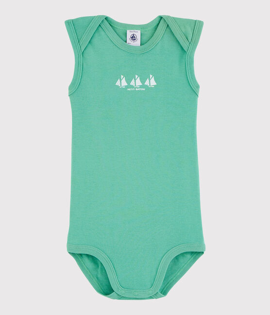 Body senza maniche bebè maschio verde Aloevera