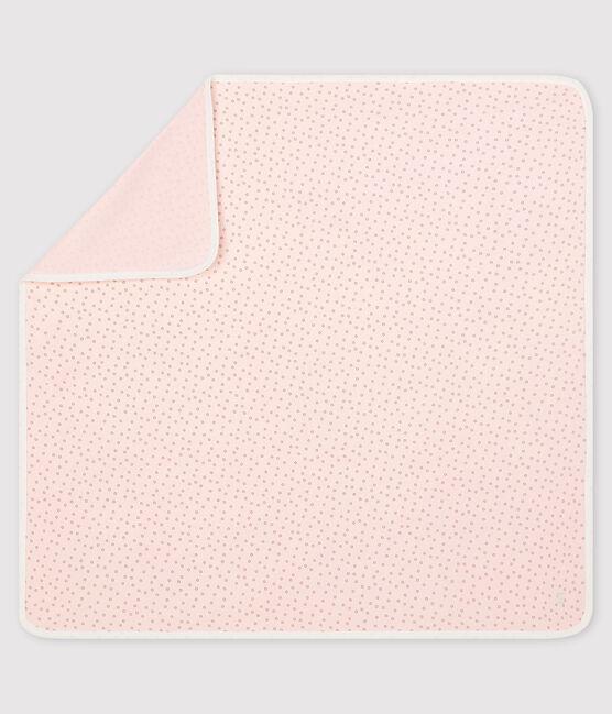 Copertina nascita bebè a costine rosa Fleur / grigio Concrete