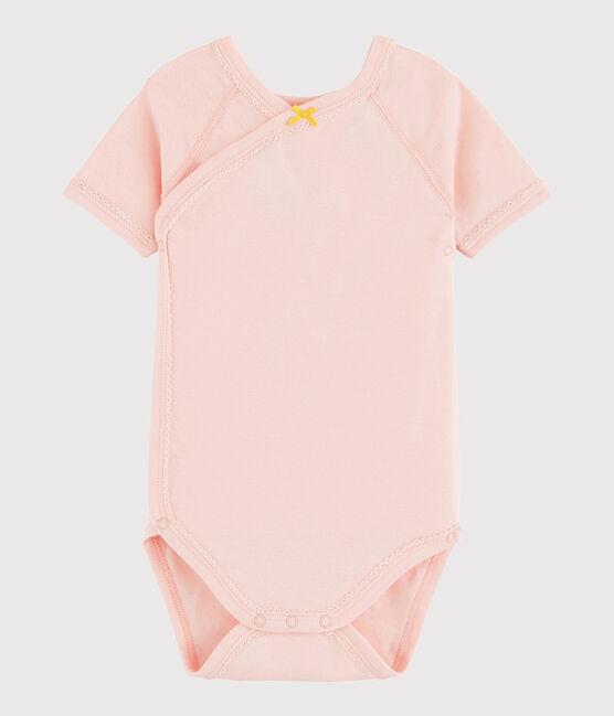 Body incrociato a manica corta bebè femmina rosa Minois