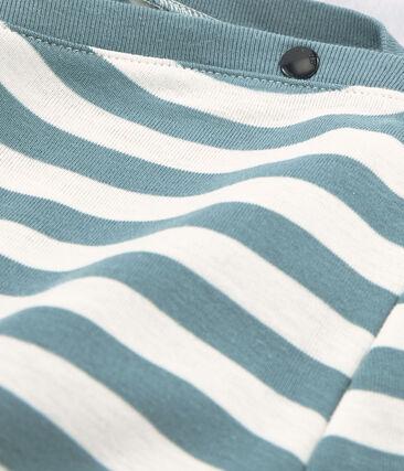 T-shirt maniche lunghe donna blu Fontaine / bianco Marshmallow