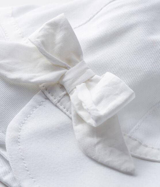 Cappellina in twill bebè bambina bianco Marshmallow