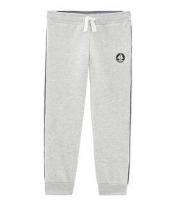 Pantalone bambino in molleton grigio Beluga