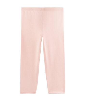 Legging corto bambina rosa Minois / giallo Or