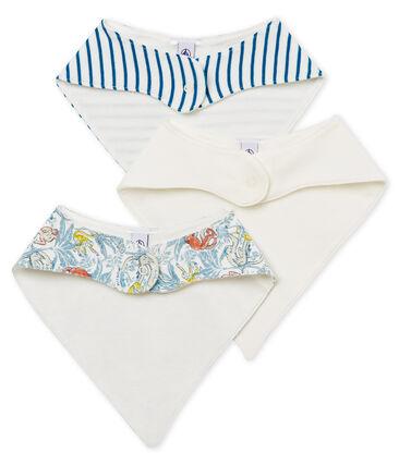 Trio bavaglini bebè maschietto in cotone