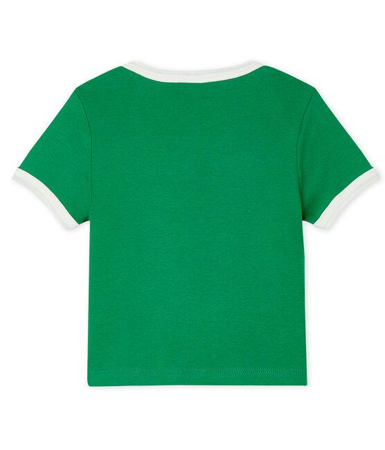T-shirt maniche corte bebè maschio verde Prado