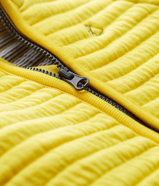 Giubbotto sm in tubique trapuntato maschietto giallo Shine