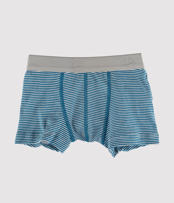 Boxer bambino blu Contes / bianco Marshmallow