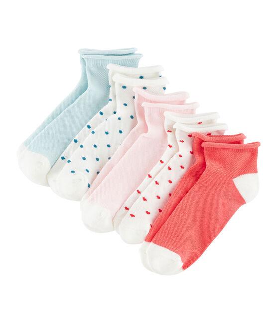 Set di 5 paia di calzini bambina lotto .