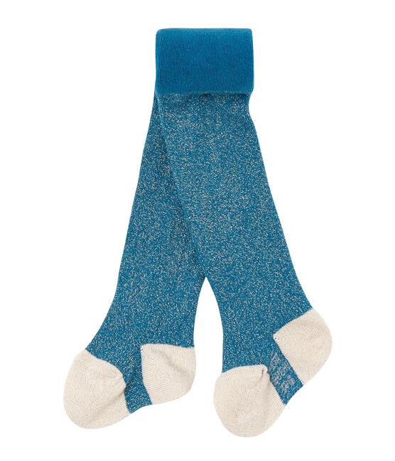 Collant per bebé femmina paillettati blu Contes