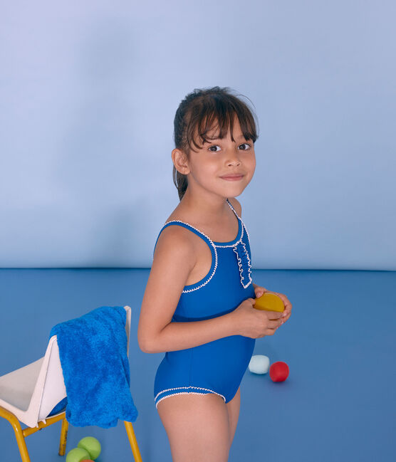 Costume intero bambina blu Riyadh