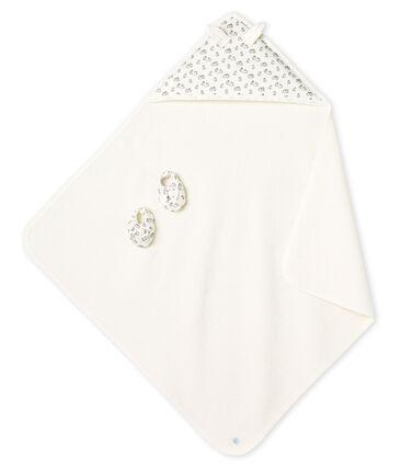 Cofanetto asciugamano quadrato da bagno e babbucce bebè in BE e a costine MARSHMALLOW/SCULPTURE/MULTICO