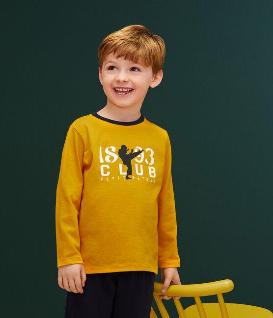 T-shirt serigrafata bambino giallo Boudor