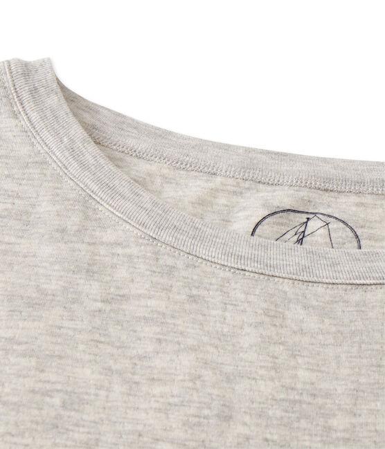 Maxi t-shirt donna in tubique extra-fine chiné grigio Beluga Chine