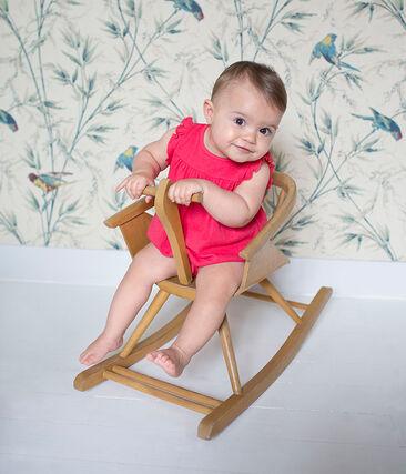 Tutina corta bambina in cotone/lino