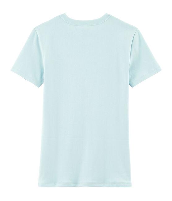 T-shirt iconica donna blu Crystal
